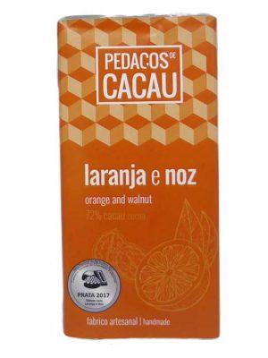 Chocolate Negro com Laranja e Noz (100gr)
