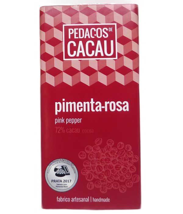 Chocolate Negro com Pimenta Rosa (100gr)